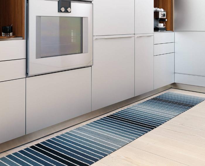 Shag Block Stripe Indoor/Outdoor Mat