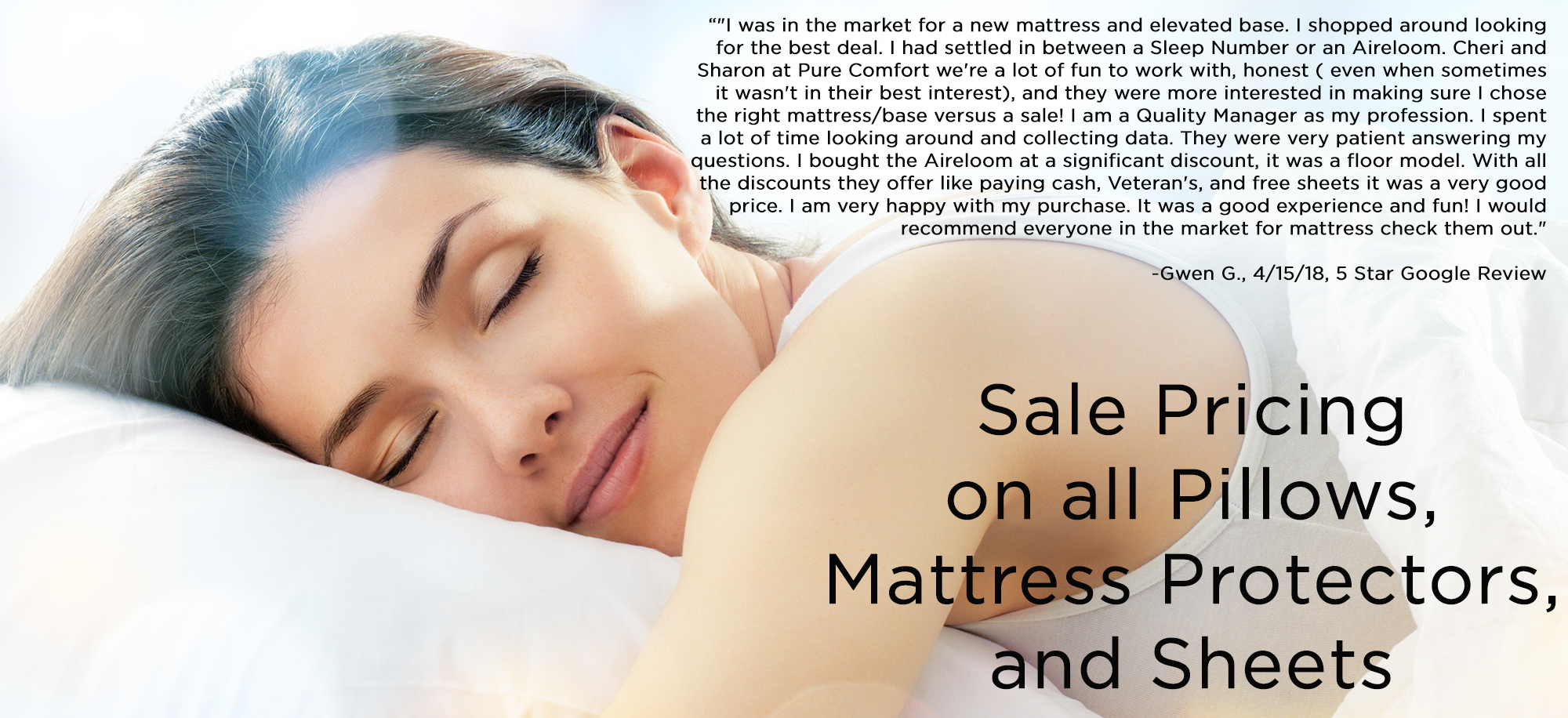 Sale on Mattresses, pillows, mattress protectors, bed sheets