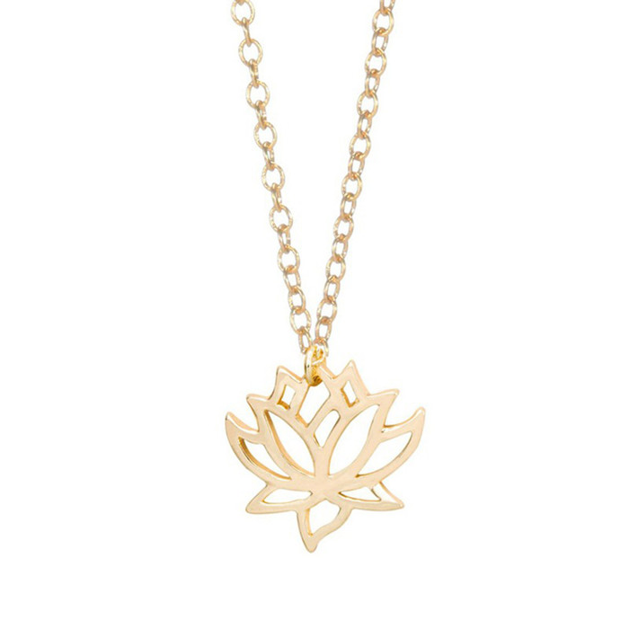 Gold plated lotus flower necklace gold plated jewellery urbanshe gold plated lotus flower necklace home necklaces gold plated lotus flower necklace urbanshegoldplatedlotusflowernecklacefashionjewellery mightylinksfo
