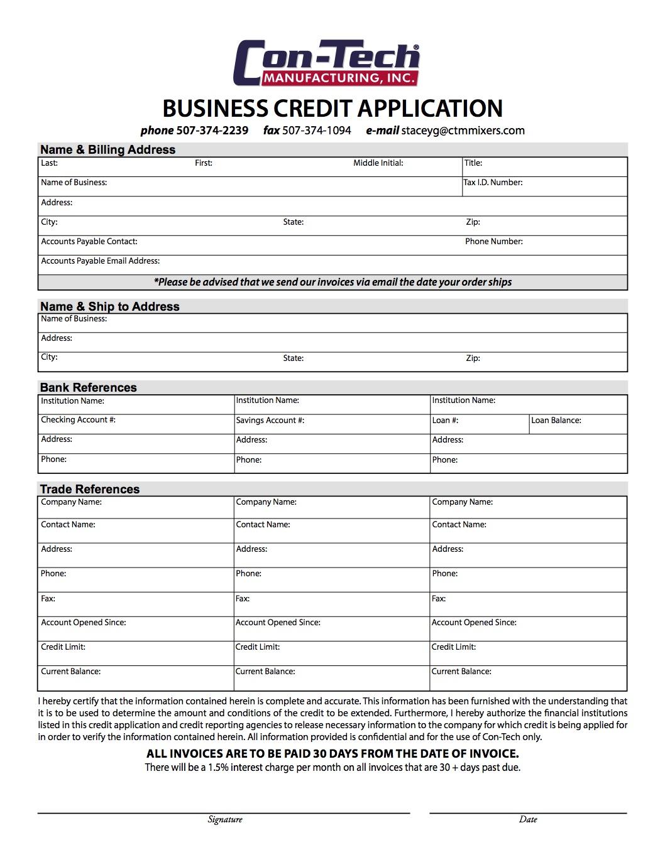bet 364 Credit Application
