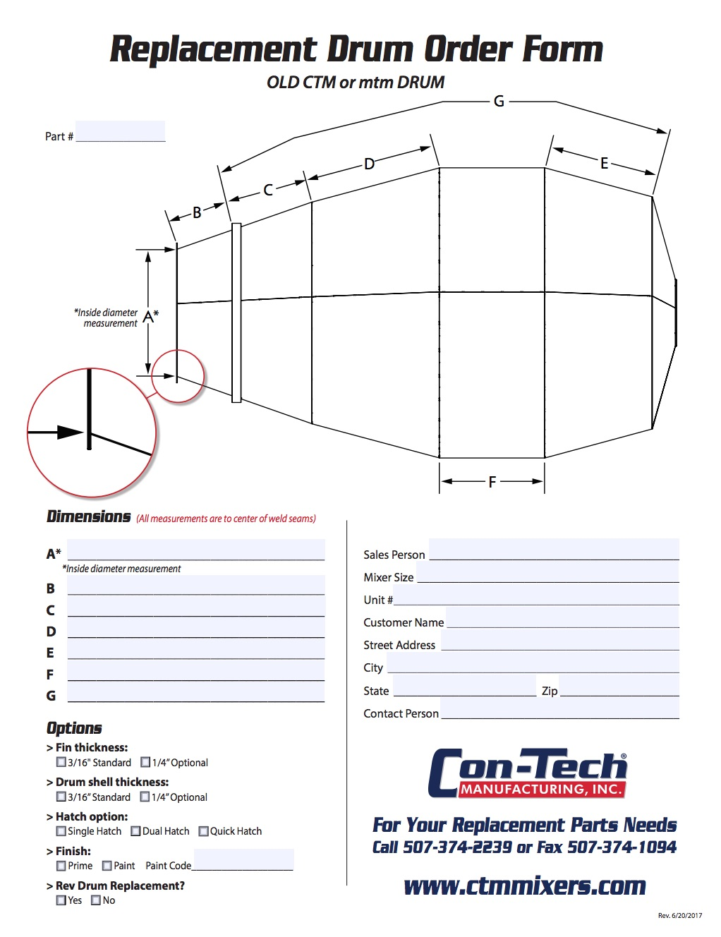 HP Drum Replacement Order Form