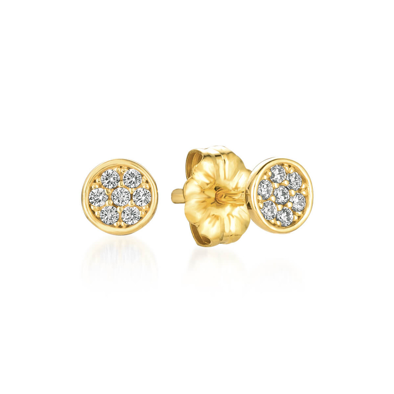 art stud circle happiness earrings modern boutique en