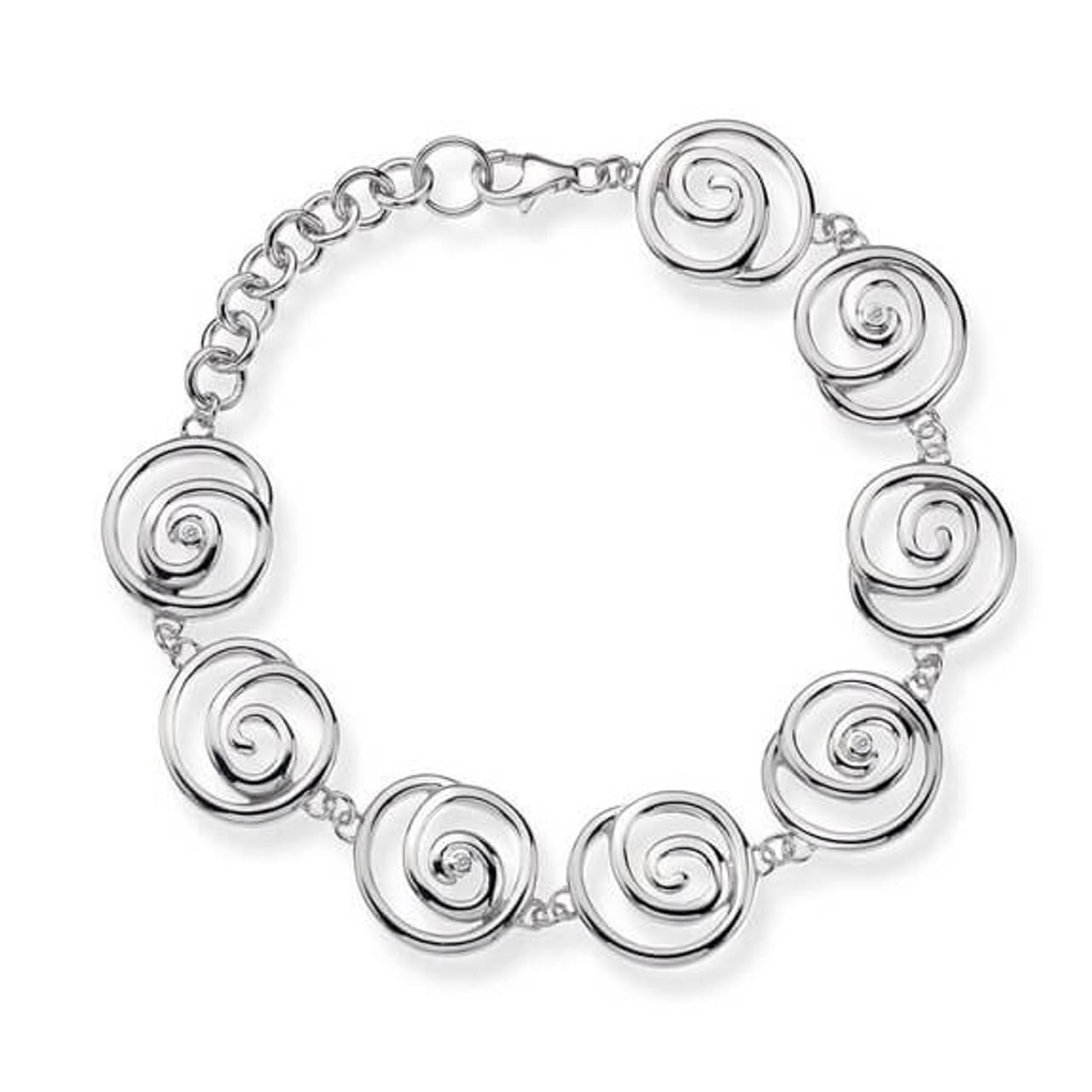 Hot Diamonds Eternity Spiral Bracelet of 19 cm wVvRE