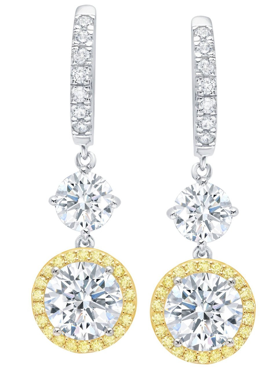 tw earrings yellow round to mv zoom hover diamond cut tone canary gold kay kaystore zm en two ct