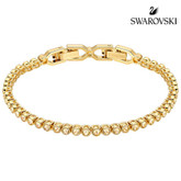 Swarovski Emily Tennis Bracelet, Yellow Gold