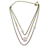 Rebecca Multi-chain Necklace, Stainless Steel