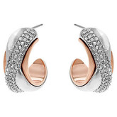 Swarovski Wave Pierced Hoop Earrings
