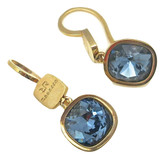 Small Earrings with Blue Swarovski Crystals