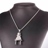 Men's Stainless Steel Fashion Plug Pendant