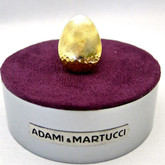 Adami and Martucci Matte Polished Gold Ring