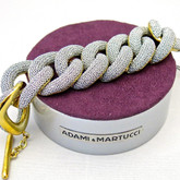 Adami and Martucci Silver Mesh Links Bracelet in Gold
