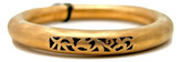 Adami and Martucci Matte Finish Filigree Bangle, Rose-Gold