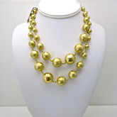 Adami and Martucci Graduated Yellow Gold-Plated Balls Necklace