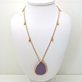 Adami and Martucci Purple Enamel Pendant in Rose Gold