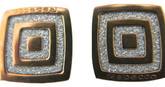 Square Stud Earrings in Rose Gold
