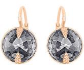 Swarovski Globe Leverback Earrings, Black in Rose-Gold