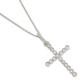 Swarovski Bezel Set Cross Pendant