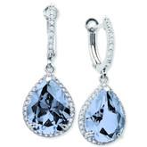 Crislu Blue Quartz Peardrop Earrings