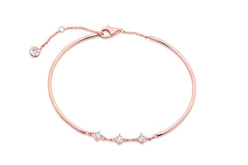 Crislu Brilliant Accented  Bracelet in Rose Gold