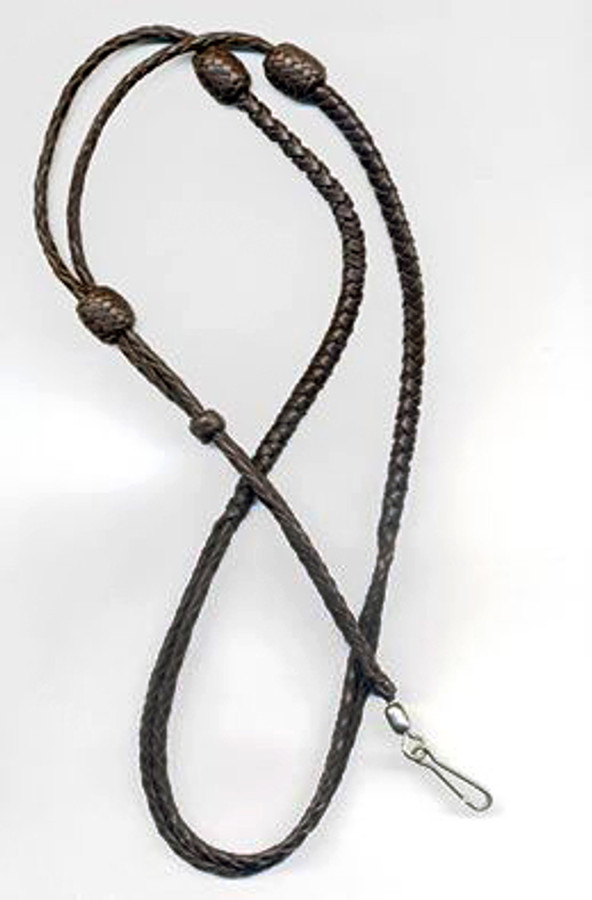 Adjustable Leather Lanyard/ Hand -  Braided Kangaroo