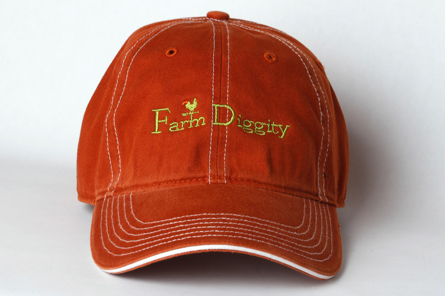 Farm Diggity Hat /Texas Orange & White