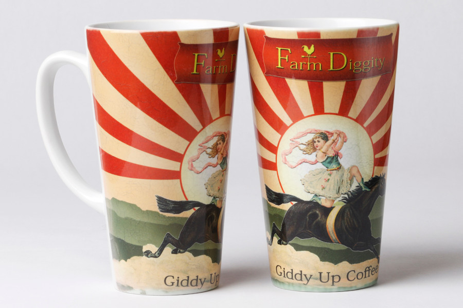 Farm Diggity Giddy up 17oz Latte Mug