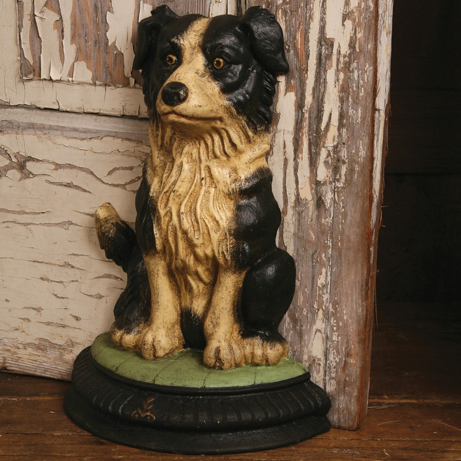 Cecil the Dog Doorstop - Cast Iron - Ships free in USA