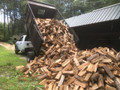 Firewood delivery truck