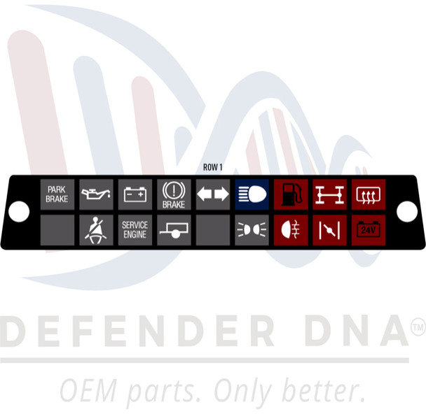 Defender 90/110 Warning Light Cluster Face Replacement Kit - ROW OPTION 1