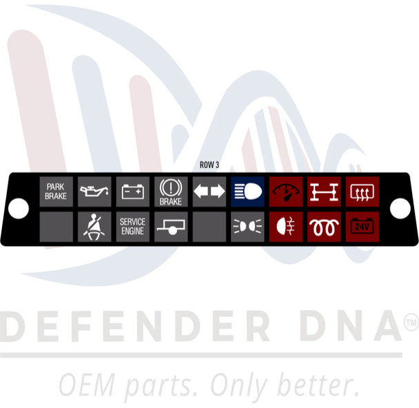 Defender 90/110 Warning Light Cluster Face Replacement Kit -ROW OPTION 3