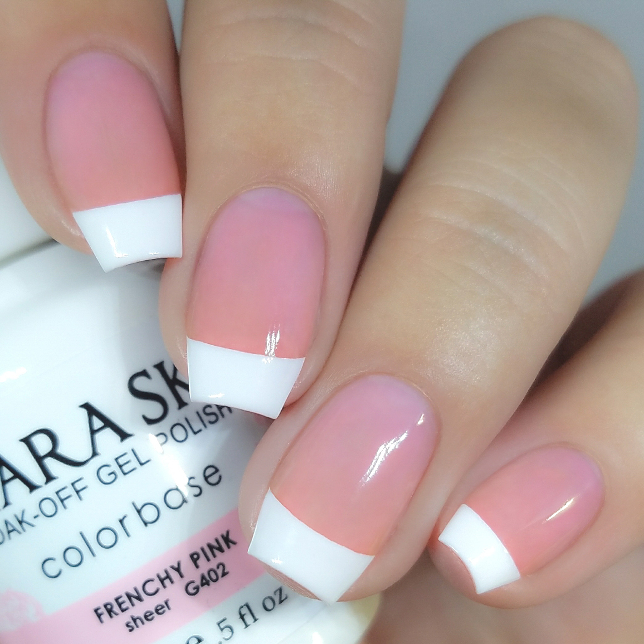 French Pink Nail Polish | Pale Pink Gel Nails | Kiara Sky