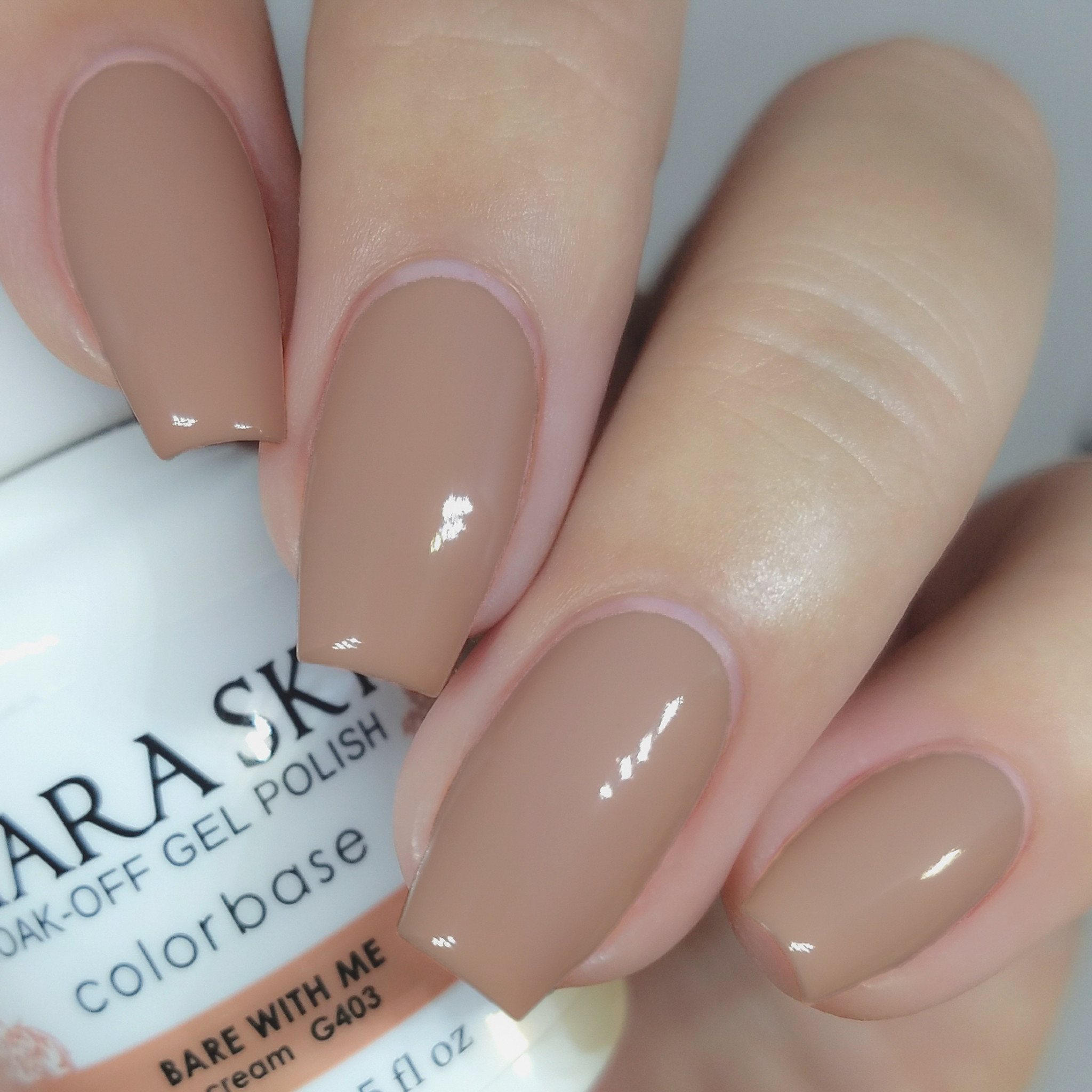 Nude Gel Polish | Beige Gel Nail Polish | Kiara Sky