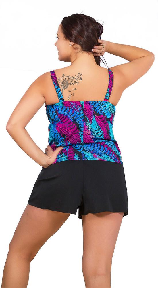 Women's Best Fitting Tankini Swim Top With Scoop Neck  #148 Sizes B-DD