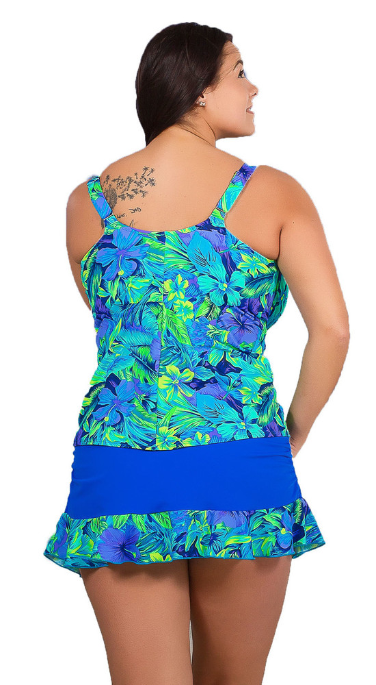 Women's Plus Bra Tankini Swim top with Great Coverage and Support  #150W Bra Sizes D-G