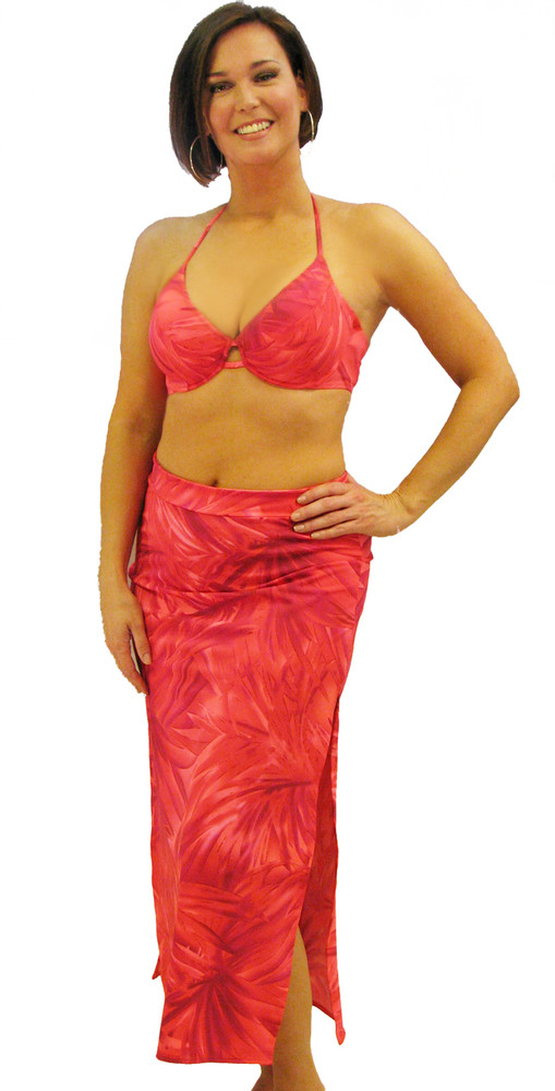 Women's Low Waisted Long Cover-up Skirt #7050 Sizes XS-XL