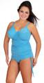 Women's Bra Style Tankini with Drawstring Side #150S Bra Size C-G