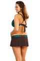 Women's Plus Low Rise Skirt with Ruched Belt & Attached Panty #74W Sizes 18-20