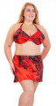 Women's Plus  Underwire Bikini with Thick Halter Strap #602W Bra Sizes A-H