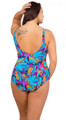 Women's Modest One Piece Cinched Waist Fits bra cup sizes D-DD  #3009 Sizes 8-18