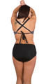 Women's  Plus Bikini Bottom with shirred front  #45W Sizes 14-26