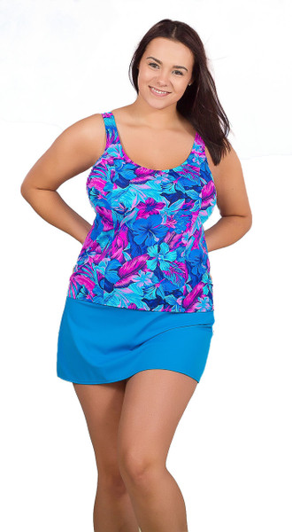 Comfortable Tankini with Underwire  #133W Fits B-DD