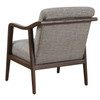 Mid Century Wood Frame Accent Chair in Kendrick Driftwood- DS-D102006