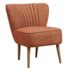 Mid Century Vertically Channeled Accent Chair in Kenrdrick Ember- DS-D102007