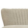 Mid Century Vertically Channeled Settee in Kendrick Oatmeal - DS-D102008
