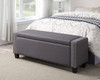 Upholstered Storage Bed Bench Trespass Slate - DS-2178-132