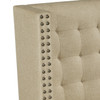 Shelter Back Upholstered Settee in Sateen Hemp - DS-2185-400-433