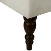 Armless Button Tufted Upholstered Settee in Aria Porcelain- DS-2506-400-489