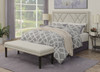 Linen Upholstered Bed Bench with Nail Head Trim- DS-D029002-459