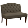 Camel Back Upholstered Settee in Fresh Pewter - DS-D111-400-498
