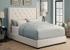 Contemporary Shelter Upholstered Footboard w/Rails Queen- DS-1927-251